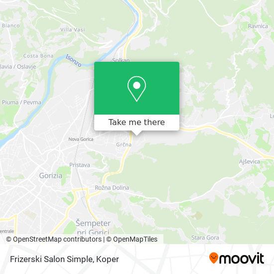 Frizerski Salon Simple map
