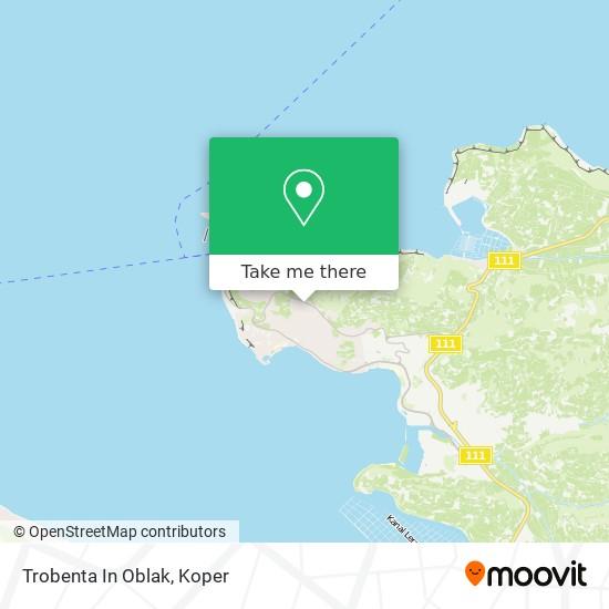 Trobenta In Oblak map