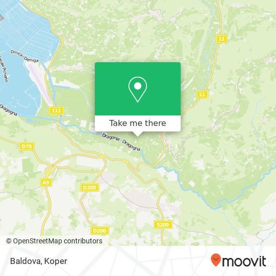 Baldova map