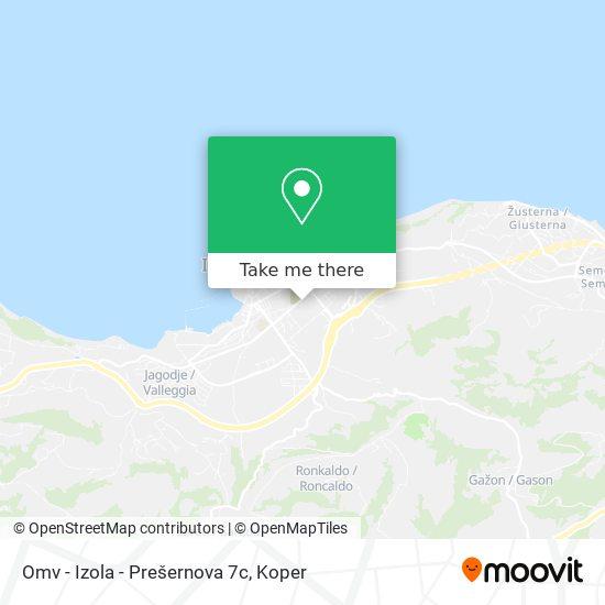 Omv - Izola - Prešernova 7c map