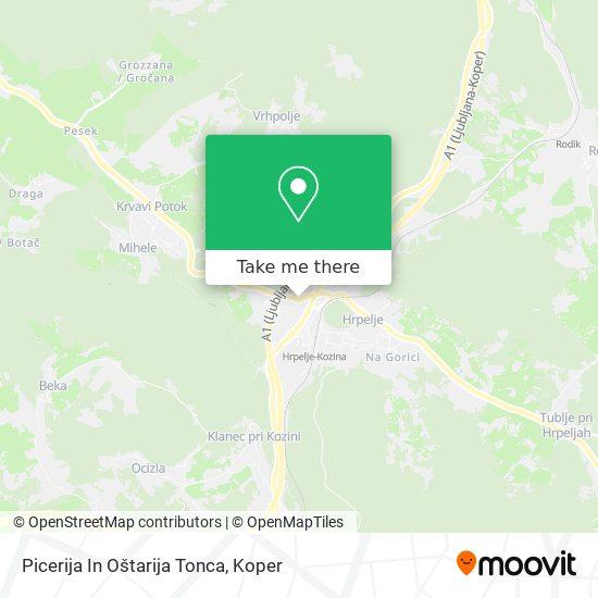 Picerija In Oštarija Tonca map