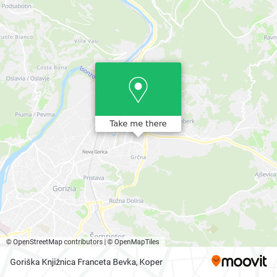 Goriška Knjižnica Franceta Bevka map