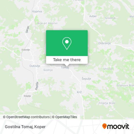 Gostilna Tomaj map