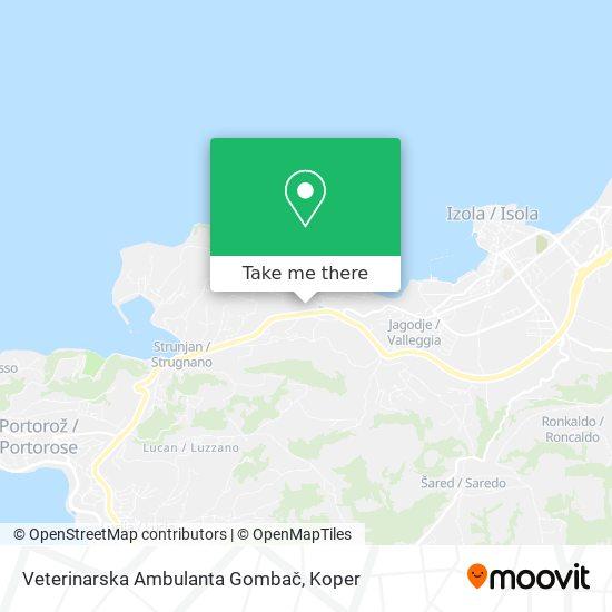 Veterinarska Ambulanta Gombač map