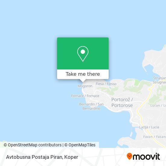 Avtobusna Postaja Piran map