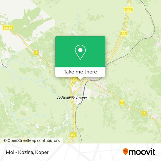 Mol - Kozina map
