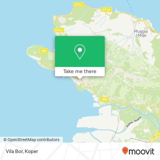 Vila Bor map