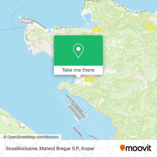 Sosallinclusive, Matevž Bregar S.P. map