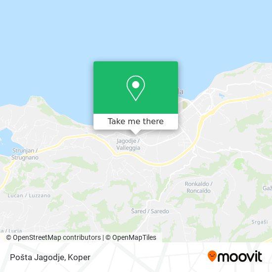 Pošta Jagodje map