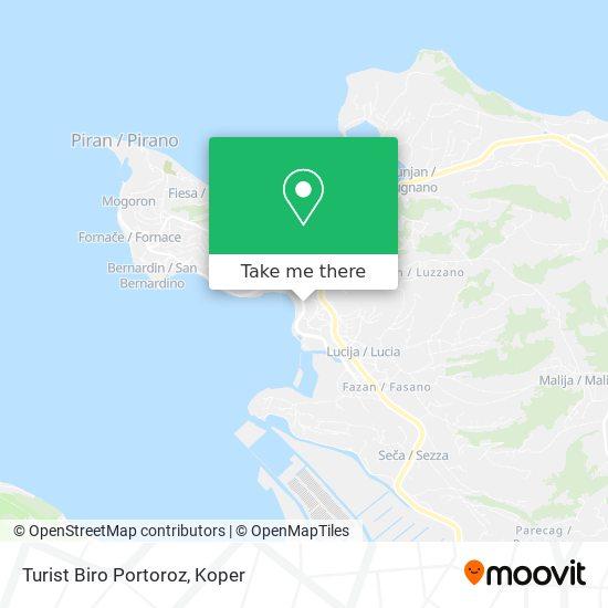 Turist Biro Portoroz map