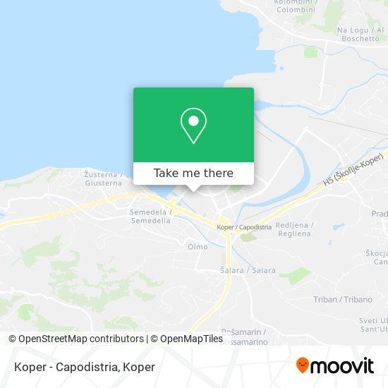 Koper - Capodistria map
