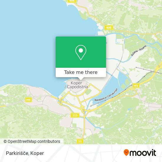 Parkirišče map