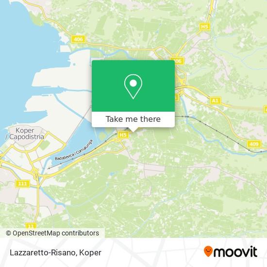 Lazzaretto-Risano map