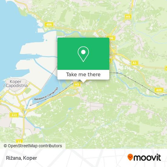 Rižana map