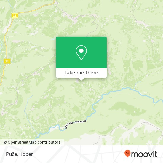 Puče map