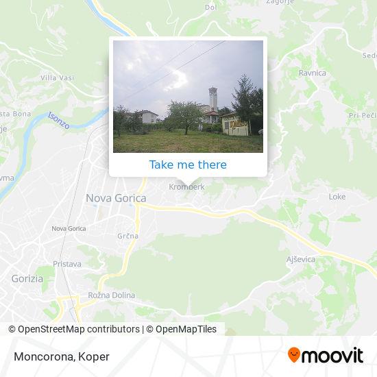 Moncorona map