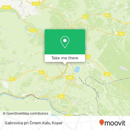 Gabrovica pri Črnem Kalu map