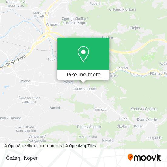 Čežarji map