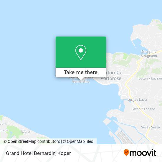 Grand Hotel Bernardin map