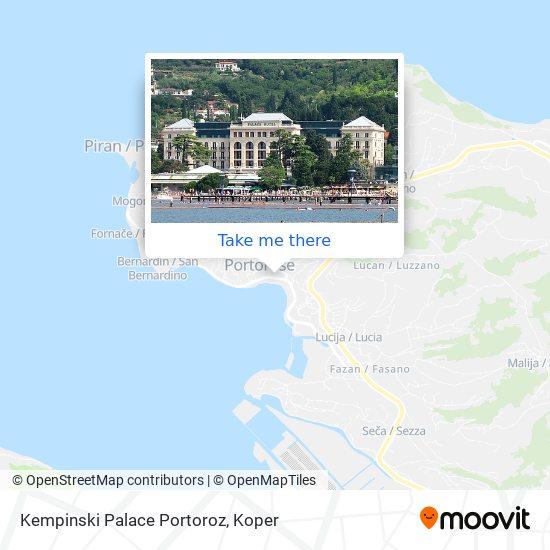 Kempinski Palace Portoroz map