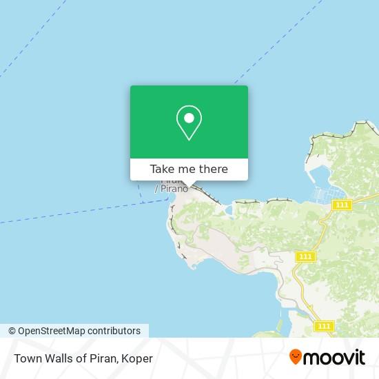 Town Walls of Piran map