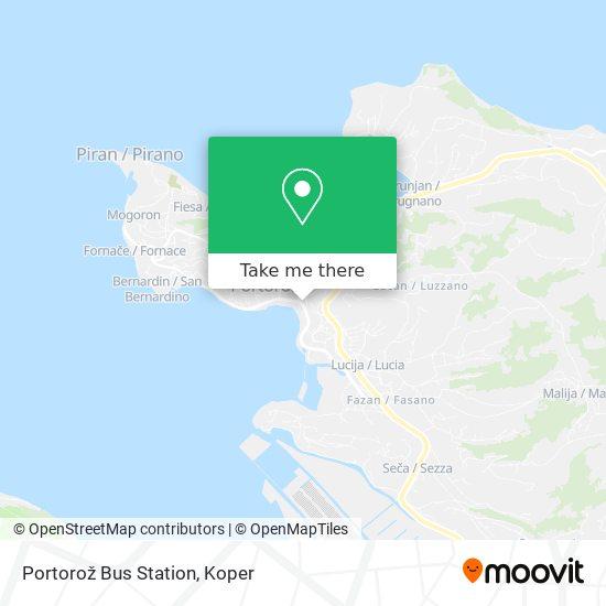 Portorož Bus Station map
