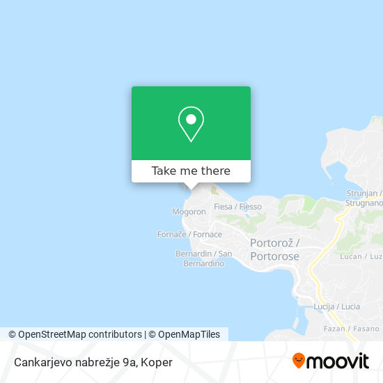 Cankarjevo nabrežje 9a map