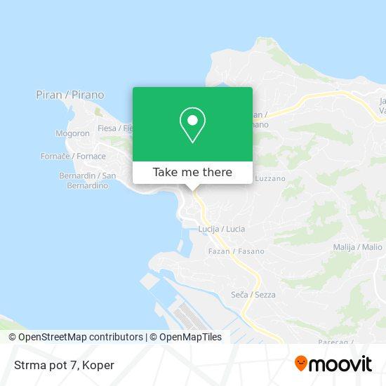 Strma pot 7 map