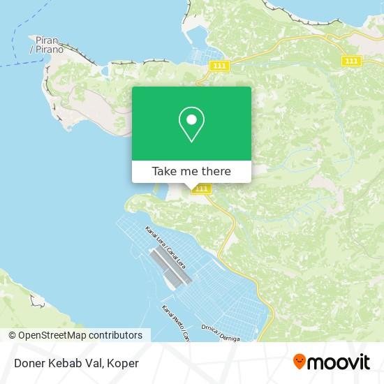 Doner Kebab Val map