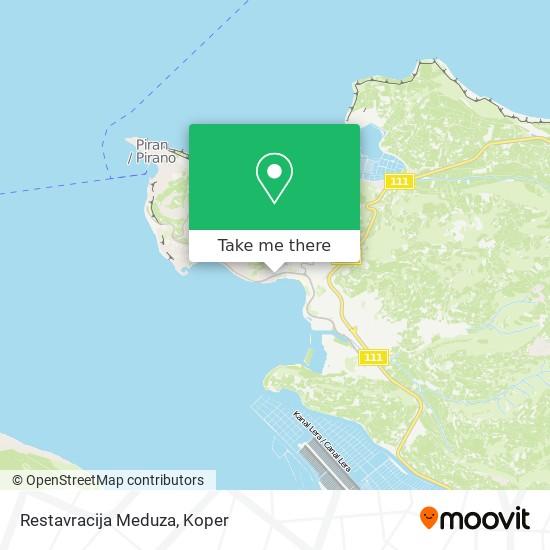 Restavracija Meduza map