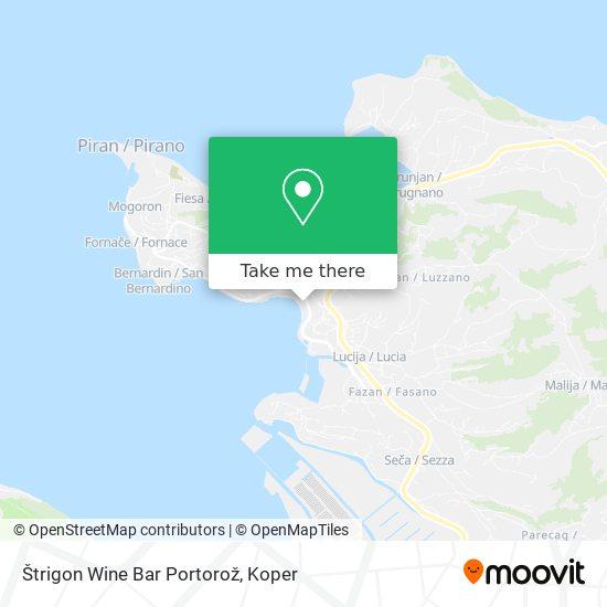 Štrigon Wine Bar Portorož map
