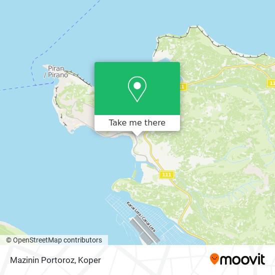 Mazinin Portoroz map