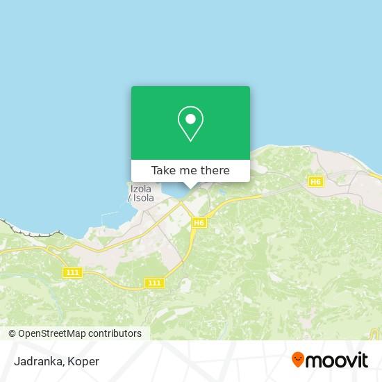 Jadranka map