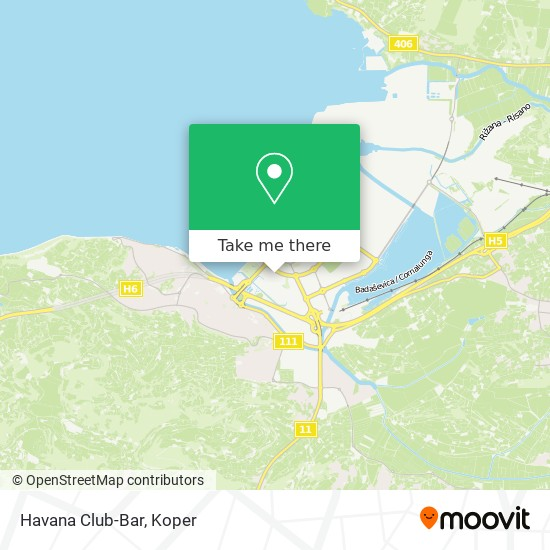 Havana Club-Bar map