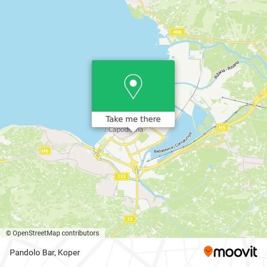 Pandolo Bar map
