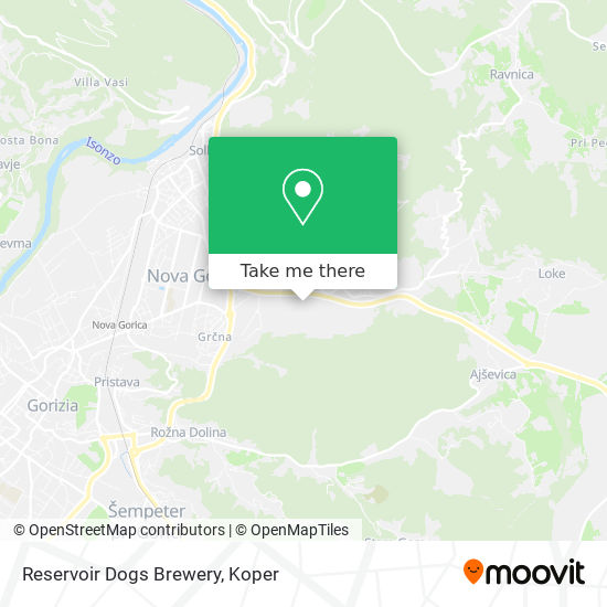 Reservoir Dogs Brewery map
