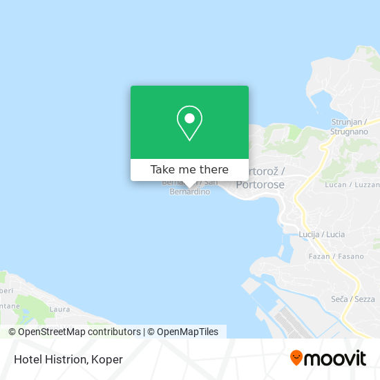 Hotel Histrion map