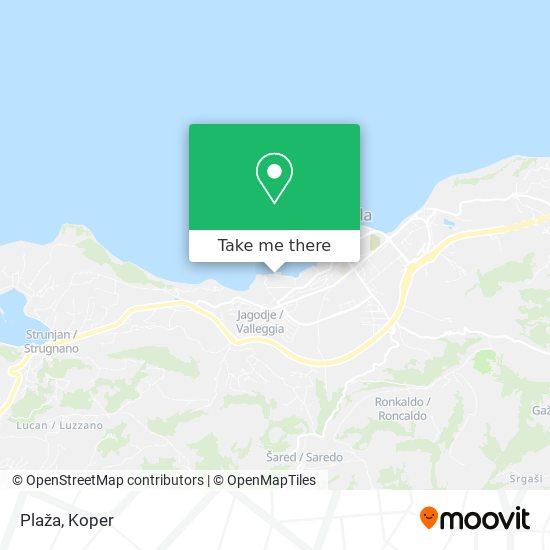 Plaža map