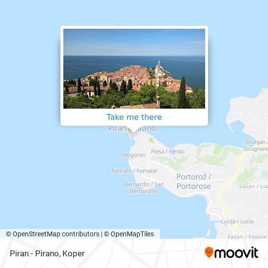 Piran - Pirano map