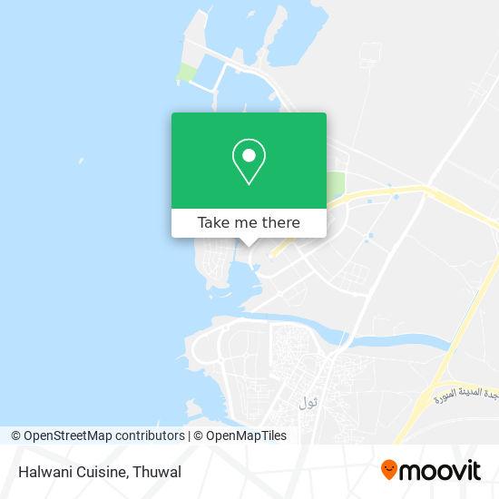 Halwani Cuisine map