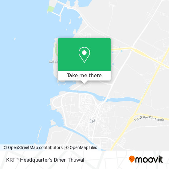 KRTP Headquarter's Diner map