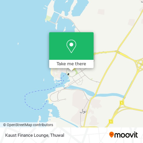 Kaust Finance Lounge map