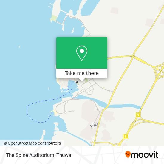 The Spine Auditorium map