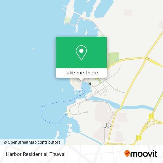 Harbor Residential map