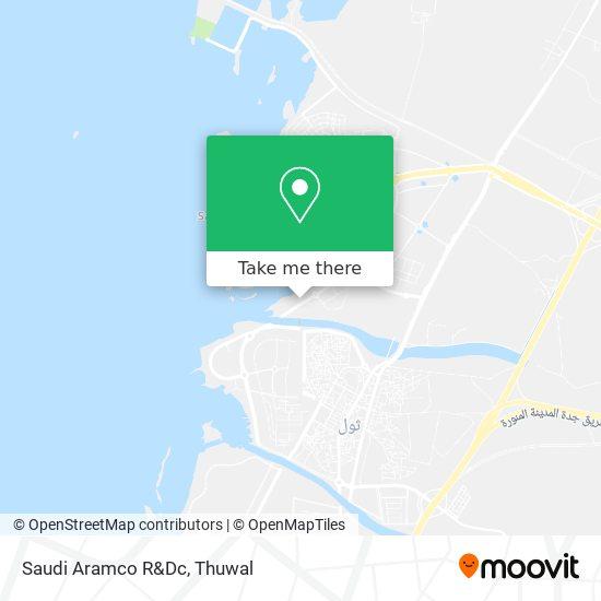 Saudi Aramco R&Dc map