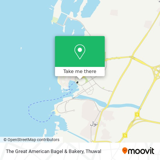 The Great American Bagel & Bakery map