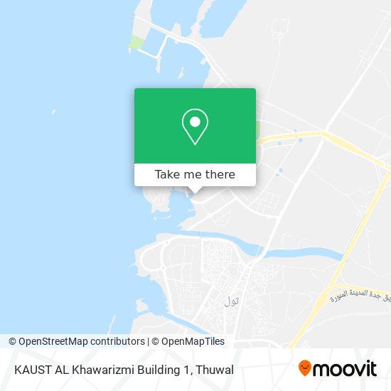 KAUST AL Khawarizmi Building 1 map