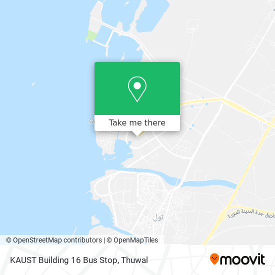 KAUST Building 16 Bus Stop map
