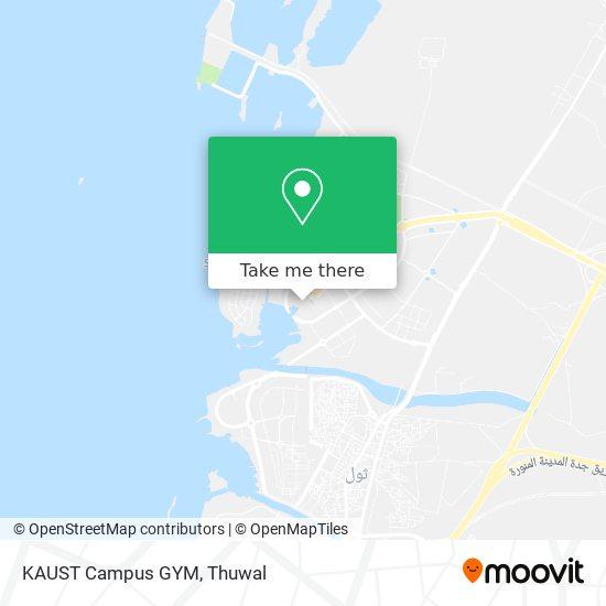 KAUST Campus GYM map