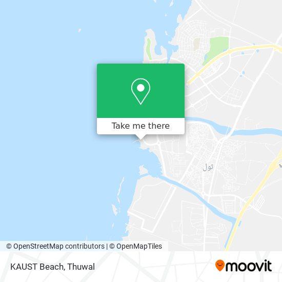 KAUST Beach map